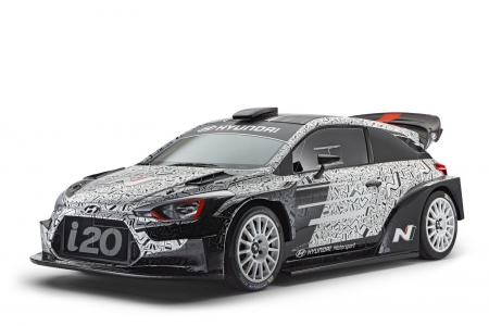 Hyundai I20 WRC - White, Spolier, Black, Rally