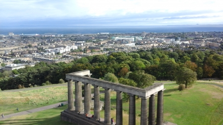 Calton Hill - Calton Hill, Edinburgh, Scotland, National Monument