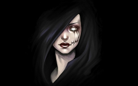 The Safety of Darkness - fantasy, emo, undead, spooky, gothic, dark, scary, vampire