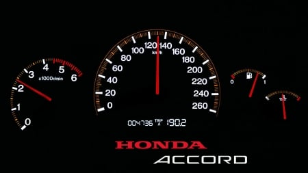 Honda Accord Speedometer - Speedometer, Accord, car, auto, Honda