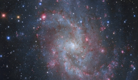 The Hydrogen Clouds of M33 - stars, cool, space, fun, galaxies