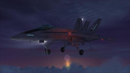 FSX F-18! Hornet - turbo, usn, fighter, wing, rocket, sand, recon, military, carrier, f14 tomcat, prop, sky, heli, aircraft, water, jet, copter, chopper