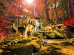 Marvelous autumn cascades in Thailand