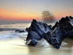 Ghost Ship Sea Collage