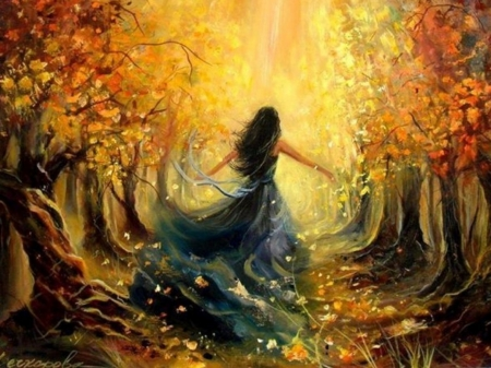 Autumn Forest - Fantasy & Abstract Background Wallpapers ...