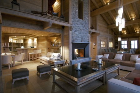 Modern Architecture - living room, indoor, House, Architecture, Housing, fire place, Modern