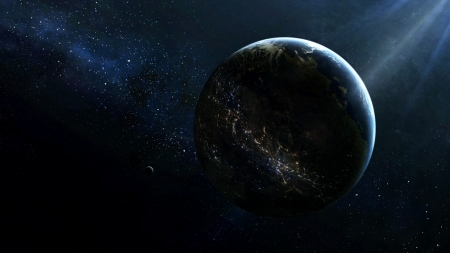 Earth 2.0 - stars, render, 3d, earth, planet, space