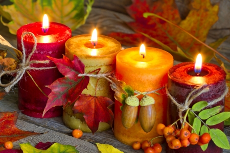 Autumn candle - Photography & Abstract Background ... |Fall Candles Background