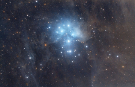 M45 The Pleiades Star Cluster - stars, fun, cool, galaxies, space