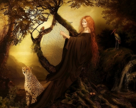 Image result for redhead and cheetah