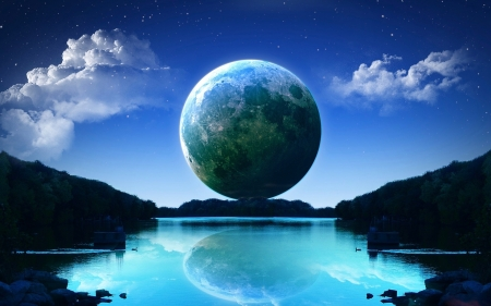 Space Art - color, lovely, art, HD, colorful, earth, clouds, magic, space, sky, world, beautiful