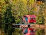 Tiny house on the lake