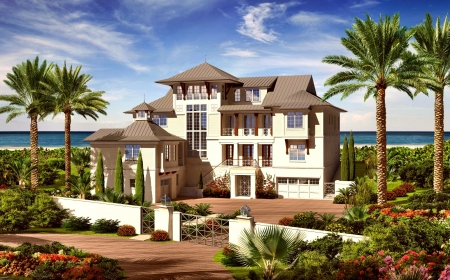 Villa - architecture, modern, CGI, animated, graphic design, Villa, design, luxury