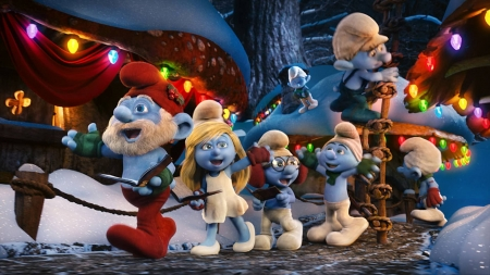 Smurfs Christmas.Smurfs Christmas 3d And Cg Abstract Background Wallpapers On