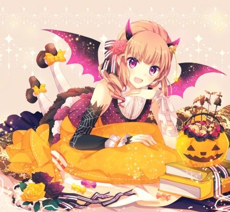 halloween girl other anime background wallpapers on desktop