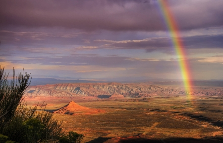 canyon rainbow - cool, desert, nature, rainbow, fun, canyon