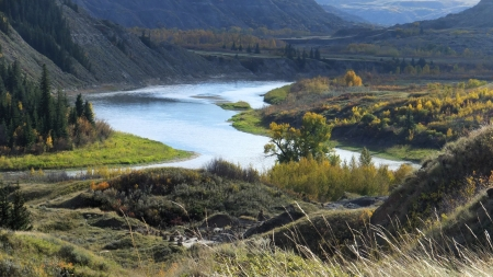 Red Deer river, Dry Island, Alberta - Dry Island, Canyons, Canada, Alberta, Badlands