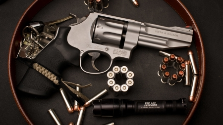 Smith & Wesson Model 627 - Smith and Wesson, revolver, bullets, gun, Model 627, weapon