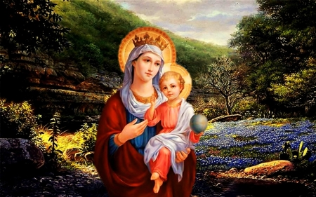 Virgin Mary Carrying Jesus