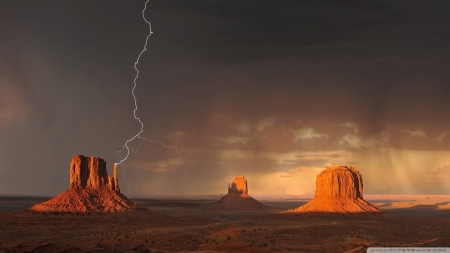 Monument Valley - nature, Arizona, deserts, landscapes