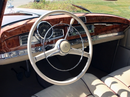 1951 Mercedes-Benz 220 - interior, 1951, steering wheel, classic, Mercedes Benz, vintage, 220