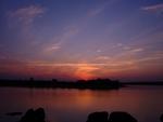 Sunset over Pioneer dam