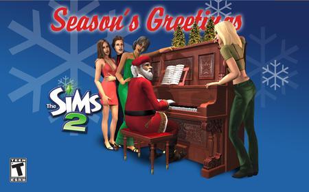 The Sims 2 Christmas - the sims 2, christmas, the sims, video game, game