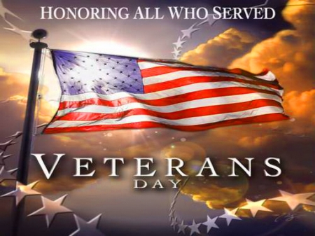 Honoring all who served - veterans, America, honor, flag