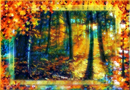 Autumn thru the Eyes of an Artist ♥ - Abstract, colors, season, Autumn, Fantasy