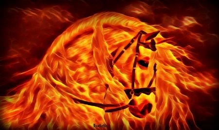 Like a FLAME ♥ - Horse, Flame, Fantasy, Fire, Burning