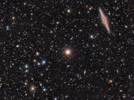 NGC 891 vs Abell 347 - stars, fun, cool, galaxies, space