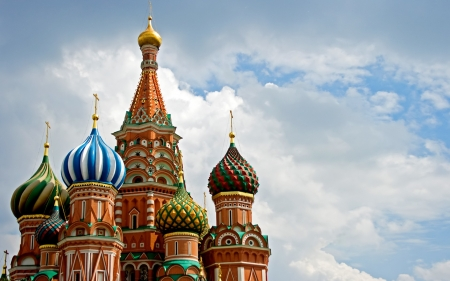 Saint Basil's Cathedral - Religious, Red Square, Russian, Church, Russia, sky, Moscow, Saint Basil Cathedral, Saint Basil, Cathedral, architecture
