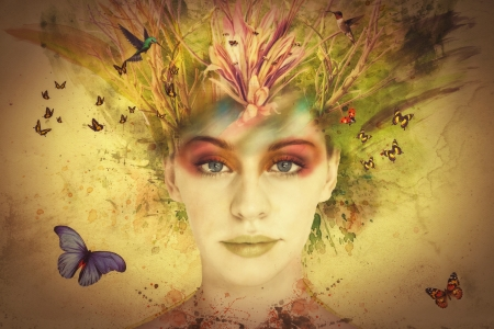 116ed2e997 Lady of Spring - Fantasy   Abstract Background Wallpapers on Desktop ...