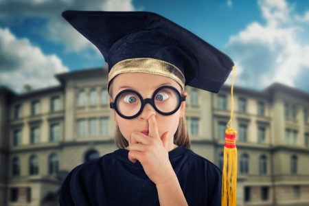 Graduation - john wilhelm, silly, creative, hat, girl, copil, child, funny, graduation