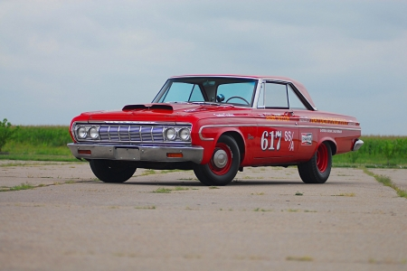 1964 Max Wedge Plymouth - Red, classic, Muscle, Mopar