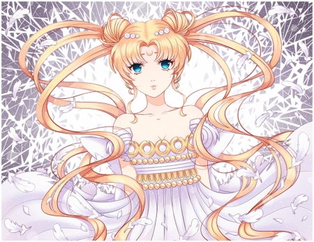 Moon Princess - pretty, magic, sweet, nice, fantasy, anime, sailor moon, beauty, anime girl, long hair, lovely, twintail, blonde, serenity, crystal, white, blond, divine, beautiful, sublime, twin tail, magical girl, tsukino usagi, sailormoon, gorgeous, usagi, female, blonde hair, twintails, usagi tsukino, twin tails, princess serenity, blond hair, tsukino, girl