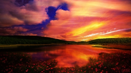 Dramatic sunset sunsets nature background wallpapers on desktop nexus image 2197381 - Dramatic wallpaper ...