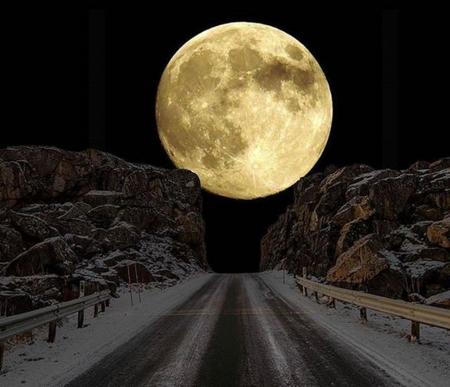 Super Moon Winter Nature Background Wallpapers On Desktop Nexus