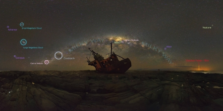 Milky Way over Shipwreck - Milky Way, stars, cool, space, fun, galaxies