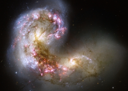 The Antennae galaxies - Space, Hubble image, Galaxies, The Antennae galaxies