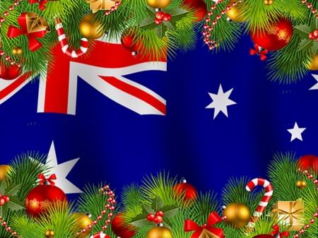 Christmas In Australia Background.Merry Christmas Australia 3d And Cg Abstract Background