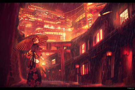 Red City Other Anime Background Wallpapers On Desktop Nexus Image 2199468