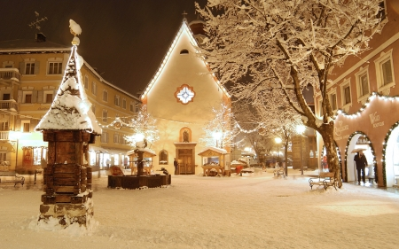 Christmas In Europe Wallpaper.Christmas Village Photography Abstract Background
