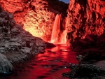 Marvelous Red Waterfall