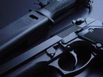 Black Pistol (Gun) and Knife