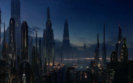 Coruscant - graphics, fantasy, dark