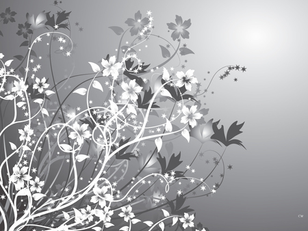 Gray - gray, abstract 1, vector