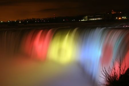 Niagara Falls at night - nightlite, niagara falls at niht