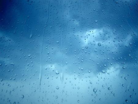 Rain - blue, sky, lonely, cloudy, rain
