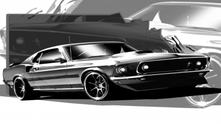 69 boss - mustang, 1969, boss, ford, classic, muscle car